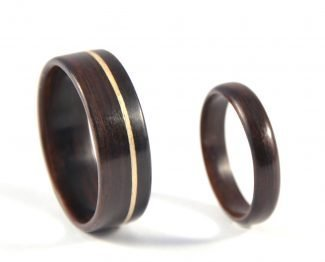 Ebony Infinity Wedding Ring Set - right side