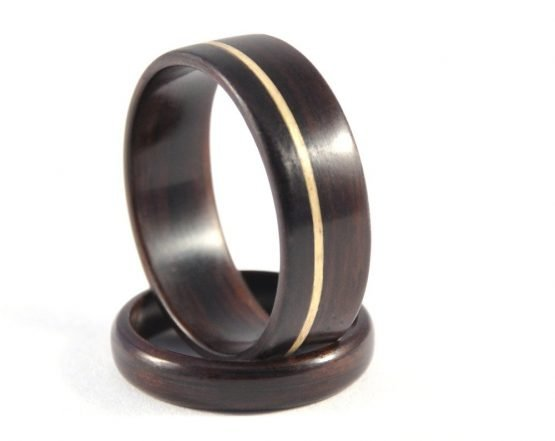 Ebony Infinity Wedding Ring Set