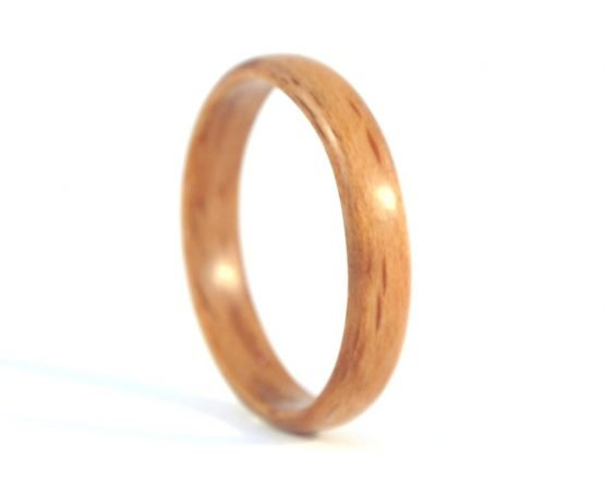 Thin beech wooden ring - right side