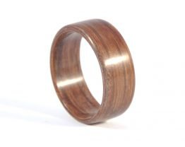 Brown colour aged oak wood ring - right side