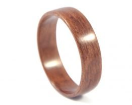 European walnut wooden ring - right side
