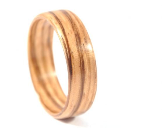 Zebra wood ring - right side