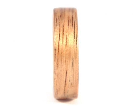 Australian black wood ring - front