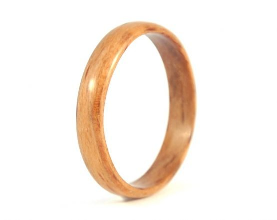 Thin beech wooden ring - left side
