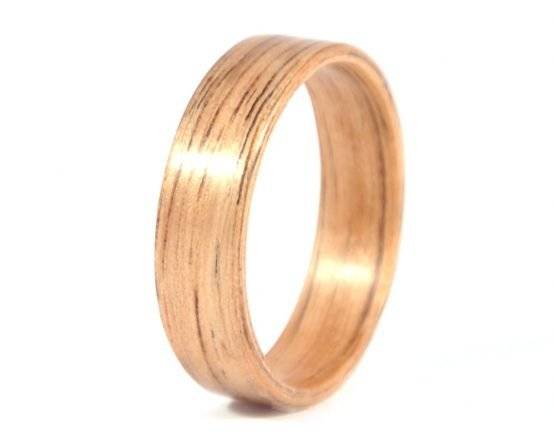 Australian black wood ring - left side