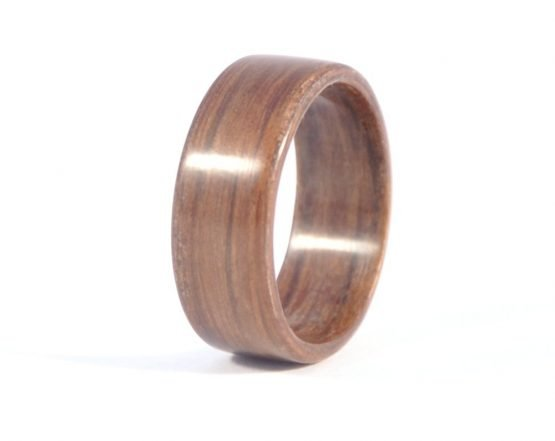 Brown colour aged oak wood ring - left side