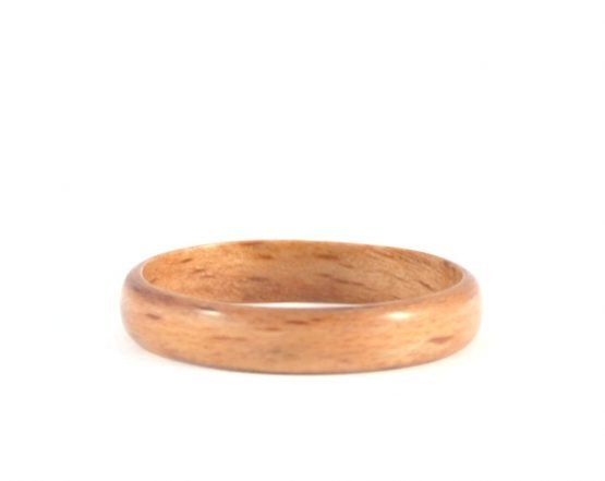 Thin beech wooden ring - lying flat