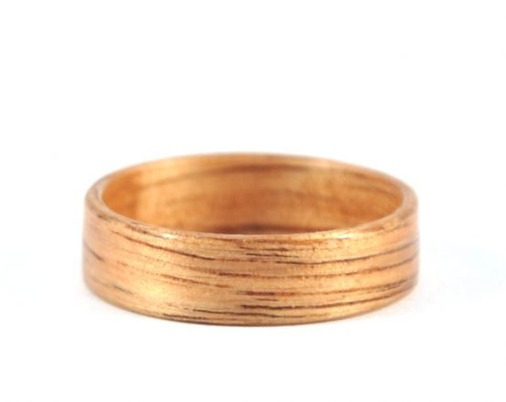 Australian black wood ring - laying flat