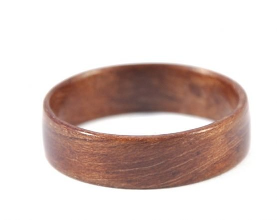 European walnut wooden ring - lying flat
