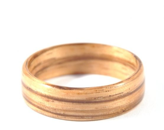 Zebra wood ring - lying flat