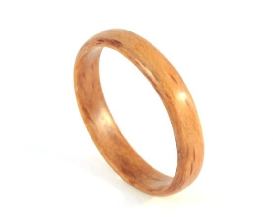 Thin beech wooden ring - from top
