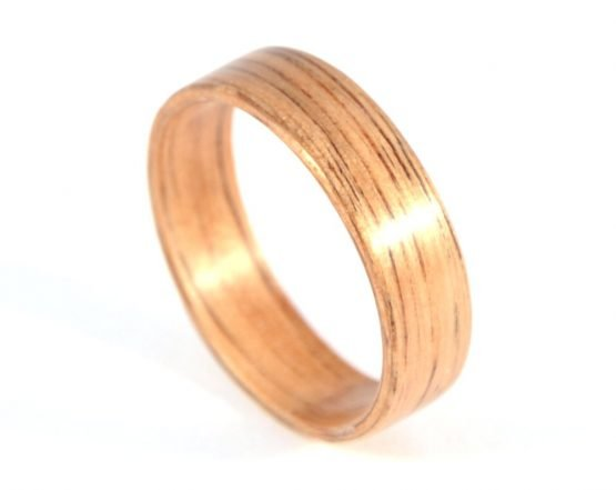 Australian black wood ring - from top