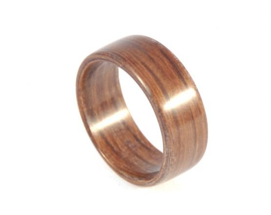 Brown colour aged oak wood ring - from top