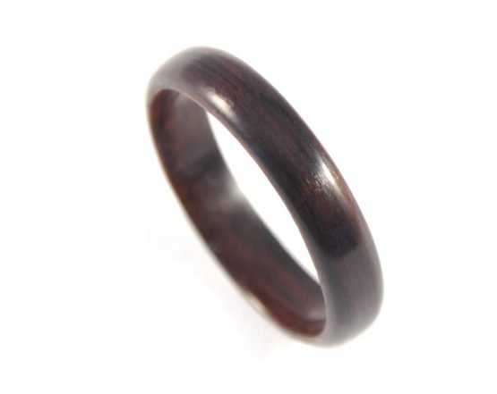 Ebony wooden ring, thin - from top