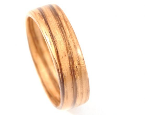 Zebra wood ring - from the top