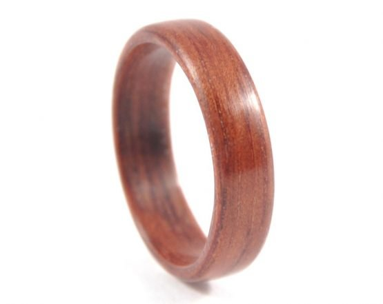 Jarrah simple wooden ring - right side