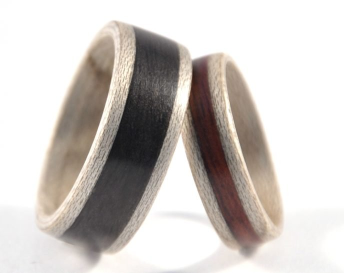 Ash Grey Sycamore Set - leaning on each other