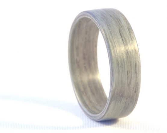 Grey ash wooden ring - right side