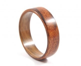Brazilian rosewood, palisander wooden ring- side right