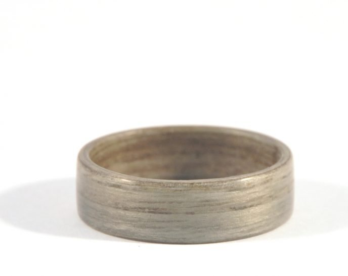 Grey ash wooden ring - lying