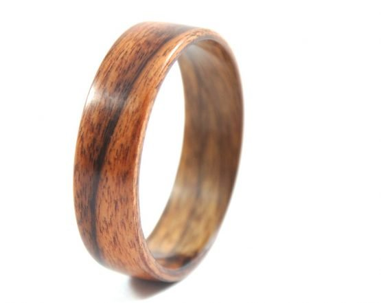 Brazilian rosewood, palisander wooden ring- left side