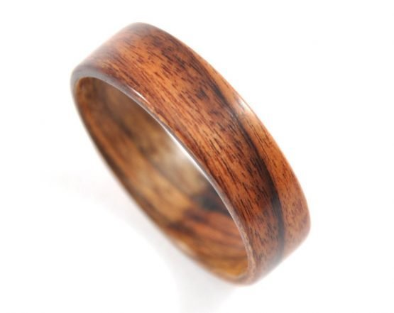 Brazilian rosewood, palisander wooden ring- from top