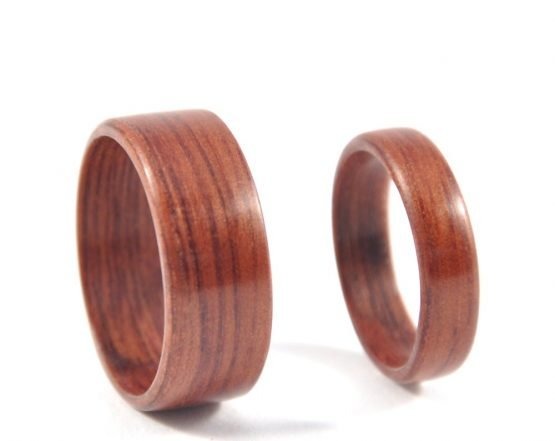 Jarrah wooden ring wedding set - right side