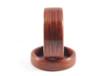 Jarrah wooden ring wedding set - front