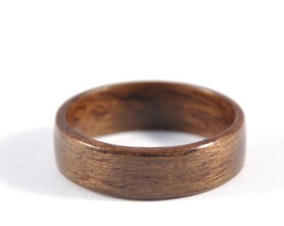 Queensland walnut wood ring - lying flat